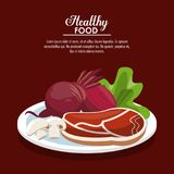 Healthy food information. Vector illustration graphic design Royalty Free Stock Image