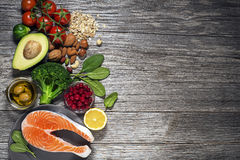 Healthy food ingredients Royalty Free Stock Images