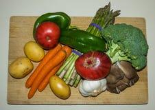 Healthy food ingredients vegetable vegan diet Stock Photo