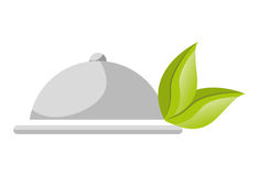 Healthy food isolated flat icon. Stock Image
