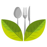 Healthy food isolated flat icon. Stock Photo