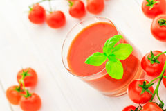 Healthy food juice red cherry tomatoes Royalty Free Stock Photo