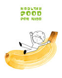 Healthy food for kids vector illustration Royalty Free Stock Photography