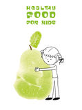 Healthy food for kids vector illustration Stock Images