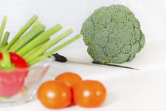 Healthy Food on a Kitchen Bench Stock Photography