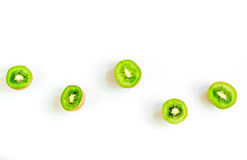 Healthy food with kiwi on white desk background top view space for text Stock Photography
