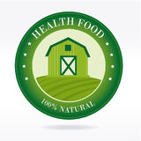 Healthy food label Stock Image
