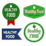 Healthy food  label, sticker or stamps Royalty Free Stock Image