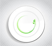 Healthy food leave design over a dish Royalty Free Stock Photos