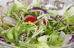 Healthy food lifestyle. Fresh salad with oil Stock Photo