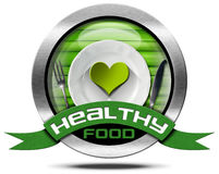 Healthy Food - Metal Icon Royalty Free Stock Images