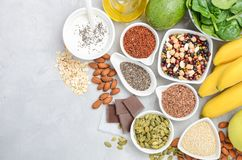 Healthy food nutrition dieting concept. Top view, flat lay, copy space. Healthy food nutrition dieting concept. Gray concrete or stone background. Top view Stock Images