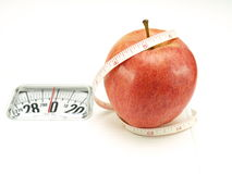 Healthy food, nutrition and fruits – apple Royalty Free Stock Images