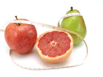Healthy food, nutrition and fruits Royalty Free Stock Photos