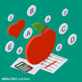Healthy food, nutrition, vitamin vector concept. Healthy food, nutrition, vitamin flat isometric vector concept illustration Royalty Free Stock Photo