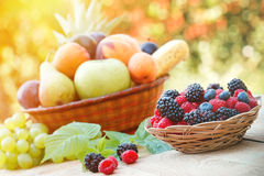 Healthy food. Organic food (fresh fruits Royalty Free Stock Photo