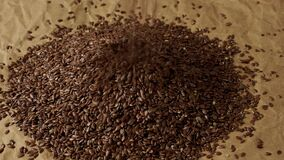 Healthy food organic nutrition. Flax seeds linseed heap