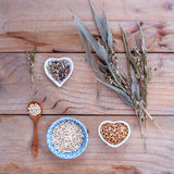 Healthy food, Organic whole grains millet rice in the bowl ,whit Royalty Free Stock Images