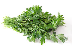 Healthy food. Parsley. Iolated on white Royalty Free Stock Photos