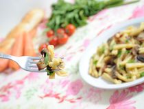 Healthy food - pasta Stock Photography