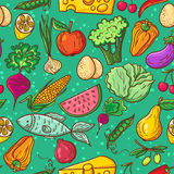 Healthy food pattern Royalty Free Stock Images