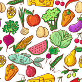 Healthy food pattern Royalty Free Stock Photos