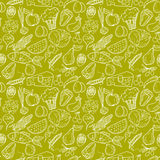 Healthy food pattern. Healthy diet seamless pattern. Fruit and vegetable endless textured background Stock Image