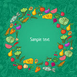 Healthy food pattern template Royalty Free Stock Image
