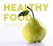 Healthy food pear fruit concept design Stock Photography