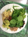 Healthy food. Plate with healthy food Stock Photo