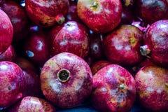 Healthy food, pomegranates background Garnets.  stock photos