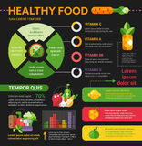 Healthy Food - poster, brochure cover template Stock Photo
