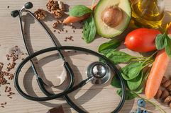 Healthy food for prevent cardiovascular diseases. An image with healthy food for prevent cardiovascular diseases Royalty Free Stock Photography