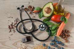 Healthy food for prevent cardiovascular diseases. An image with healthy food for prevent cardiovascular diseases Royalty Free Stock Image