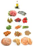 Healthy food pyramid Stock Images