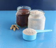 Healthy Food Ragi Flour in a Measuring Cup Royalty Free Stock Image