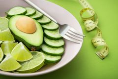healthy food salad with avocado Royalty Free Stock Photography