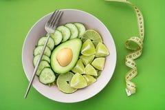 healthy food salad with avocado Royalty Free Stock Photos
