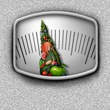 Healthy Food Scale Royalty Free Stock Images