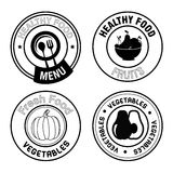 Healthy food seals Stock Image