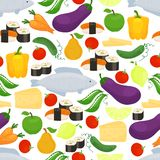 Healthy food seamless background pattern Royalty Free Stock Image