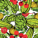 Healthy food seamless pattern Stock Photography