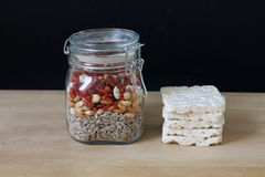 Healthy Food. Healthy seeds and pompous rice Stock Images
