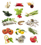 Healthy food selection Stock Images
