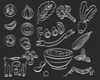 Healthy food set of icon. Vector illustration stock illustration
