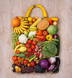 Healthy food shopping Stock Image