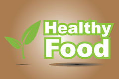 Healthy food sign Stock Images