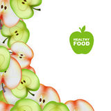 Healthy Food. Slice of Apple. Vector Stock Photography