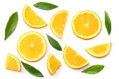 Healthy food. sliced lemon isolated on white background top view Royalty Free Stock Photography