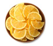 Healthy food. sliced lemon isolated on white background top view Royalty Free Stock Images
